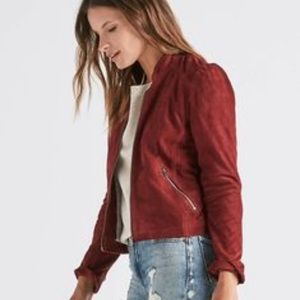 NWT Lucky Brand Sued moto jacket